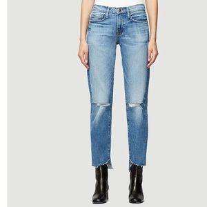 Frame denim jeans high rise straight